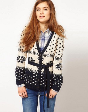 Image 1 ofPepe Jeans Fairisle Cardigan