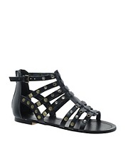 ALDO Brigida Black Stud Gladiator Sandals