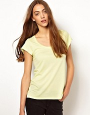Whistles Faye Seam Back Tee