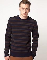 Fred Perry Jumper Boiled Stripe Crew Neck