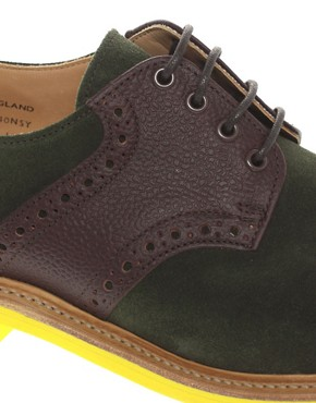 Image 2 of Mark McNairy New Amsterdam Suede Saddle Shoes