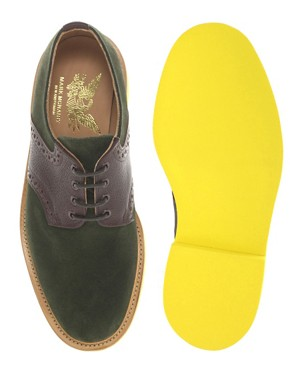 Image 3 of Mark McNairy New Amsterdam Suede Saddle Shoes