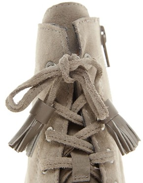 Image 4 ofJuicy Couture Madras Suede Lace Up Boot