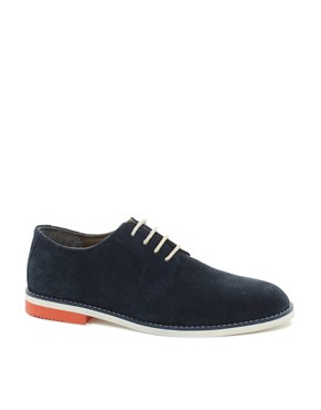 Image 1 ofASOS Derby Shoes With Multi Colour Sole