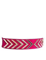 New Look Chevron Stretch Waist Belt