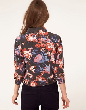 Image 2 ofASOS Denim Western Jacket in Floral Print