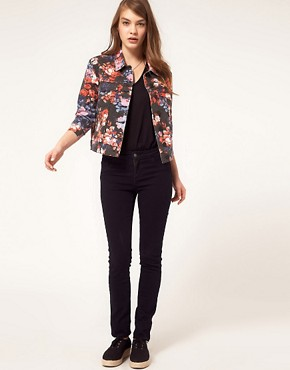 Image 4 ofASOS Denim Western Jacket in Floral Print