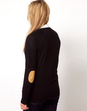 Image 2 ofASOS CURVE Elbow Patch Cardigan