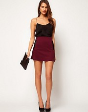 ASOS Mini Skirt With PU Pockets