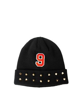 Image 2 ofASOS No 9 + Stud Beanie
