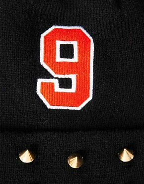 Image 3 ofASOS No 9 + Stud Beanie