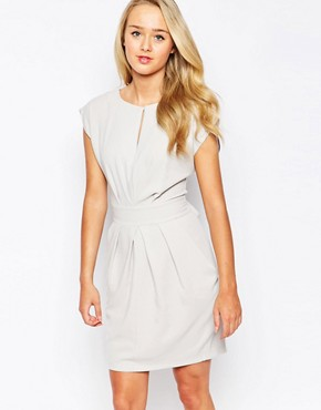 Closet Pleat Front Dress with Tie Back