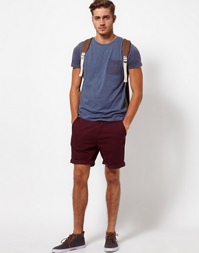 Image 4 ofASOS Chino Shorts With Feather Print Pockets