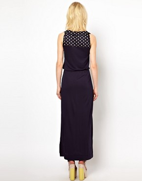 Image 2 ofOrla Kiely Sleeveless Maxi Dress with Galleon Printed Yoke