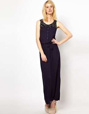 Image 4 ofOrla Kiely Sleeveless Maxi Dress with Galleon Printed Yoke