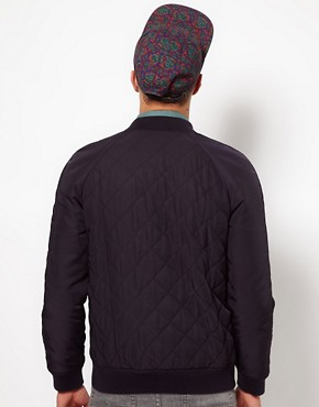 Image 2 ofASOS Bomber Jacket In Quilted Fabric