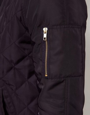 Image 3 ofASOS Bomber Jacket In Quilted Fabric