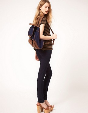 Image 3 ofPieces Orli Leather Backpack