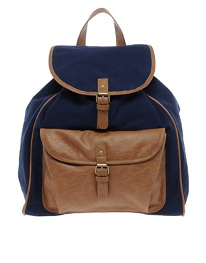 Image 1 ofPieces Orli Leather Backpack