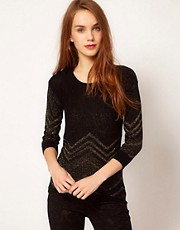 A Wear 3/4 Sleeve Tie Back Jumper