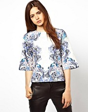 ASOS Premium Top in Tattoo Print