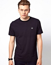 Fred Perry T-Shirt with Gingham Print