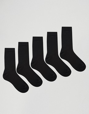ASOS 5 Pack Ankle Socks