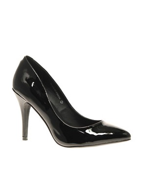 Image 1 ofASOS SHINE Patent Pointed Court Shoe