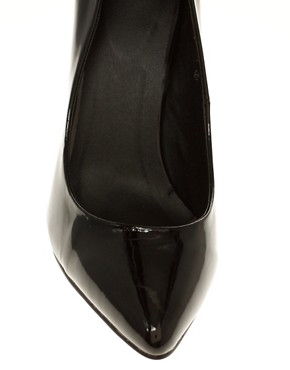 Image 3 ofASOS SHINE Patent Pointed Court Shoe