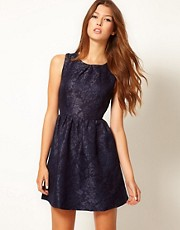 Max C Brocade Skater Dress
