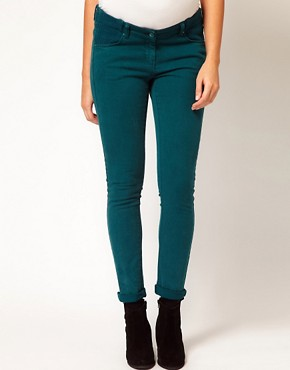 Image 4 ofASOS Maternity Skinny Jean in Teal
