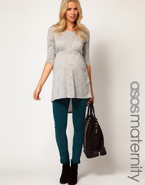 Image 1 ofASOS Maternity Skinny Jean in Teal