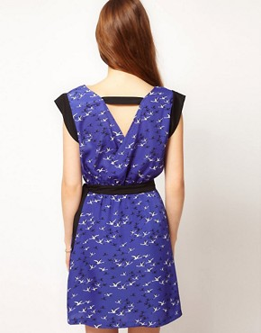 Image 2 ofKookai Bird Print Dress