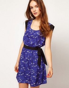 Image 1 ofKookai Bird Print Dress