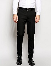 ASOS Skinny Fit Smart Trousers In Black