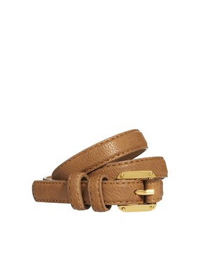 Image 1 ofPieces Jasmine Slim Leather Belt