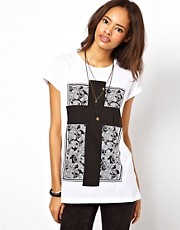 ASOS T-Shirt with Pattern Square Cross