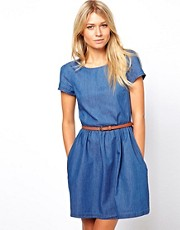 Oasis Chambray Skater Dress