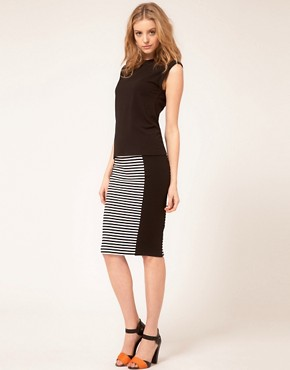 Image 1 ofWarehouse Stripe Pencil Skirt