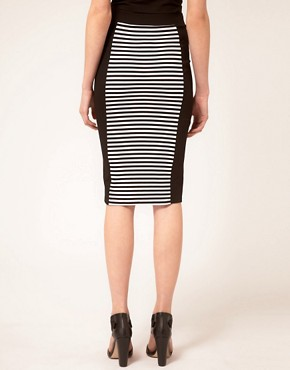 Image 2 ofWarehouse Stripe Pencil Skirt