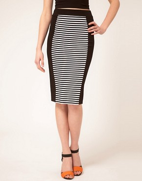 Image 4 ofWarehouse Stripe Pencil Skirt