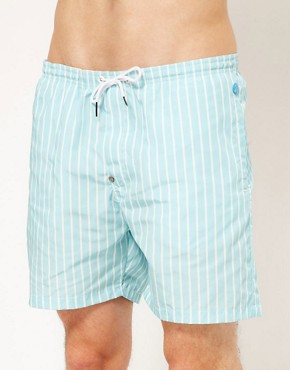 Image 1 ofG Star Light Blue Stripe Swim Short
