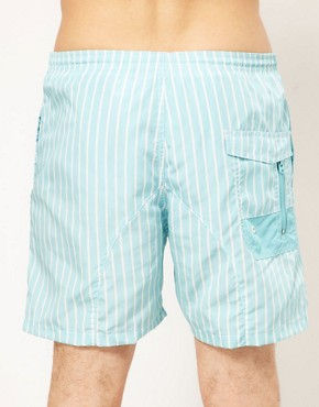 Image 2 ofG Star Light Blue Stripe Swim Short