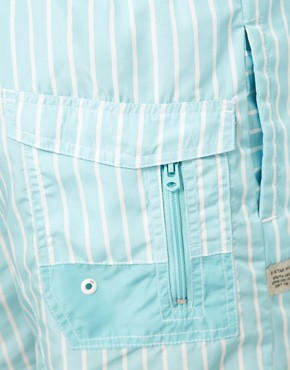 Image 3 ofG Star Light Blue Stripe Swim Short