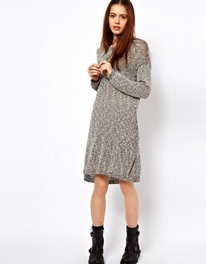 Image 1 ofJust Female Flecked Jumper Dress