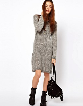 Image 4 ofJust Female Flecked Jumper Dress