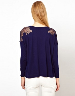 Image 2 ofWhistles Virginia Lace Shoulder Sweat