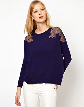 Image 1 ofWhistles Virginia Lace Shoulder Sweat