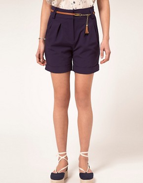 Image 4 ofA Wear Chino Shorts With Belt