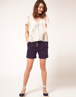 Image 1 ofA Wear Chino Shorts With Belt